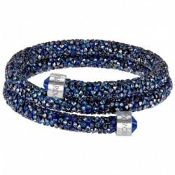 Swarovski Crystaldust Blu Double Bracciale Acciaio - S