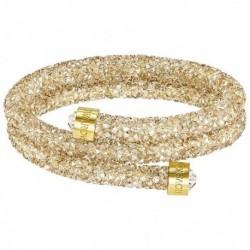 Swarovski Crystaldust Oro Double Bracciale Acciaio - M