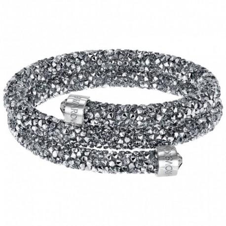 5d2c4535cb0d44 Swarovski Crystaldust Argento Double Bracciale Acciaio - M