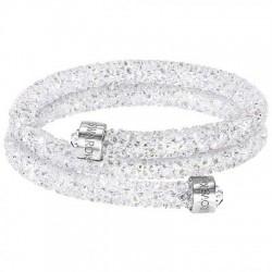 Swarovski Crystaldust Bianco Double Bracciale Acciaio - M