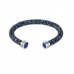 Swarovski Crystaldust Cuff Blu Bracciale Acciaio - S