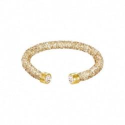 Swarovski Crystaldust Cuff Oro Bracciale Acciaio - S