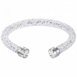 Swarovski Crystaldust Cuff Bianco Bracciale Acciaio - S