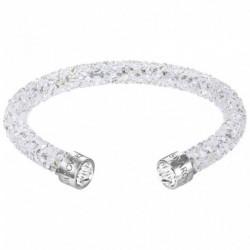 Swarovski Crystaldust Cuff Bianco Bracciale Acciaio - M