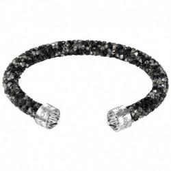 Swarovski Crystaldust Cuff Arg/Nero Bracciale Acciaio - M