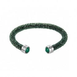 Swarovski Crystaldust Cuff Verde Bracciale Acciaio - S