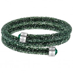 Swarovski Crystaldust Verde Double Bracciale Acciaio - S